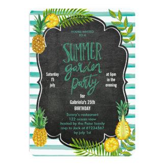 Tropical Pineapple | Summer Luau Party Invitation