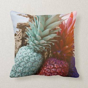 Beach Themed TROPICAL PINEAPPLE SUNSET PILLOW