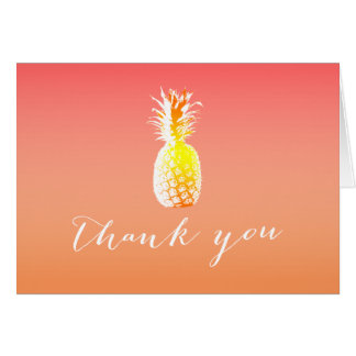 Tropical Pineapple Thank You Cards