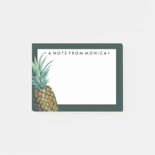Tropical Pineapple Watercolor Post-it Notes