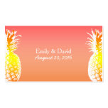 Tropical Pineapple Wedding Website Insert Double-Sided Standard Business Cards (Pack Of 100)