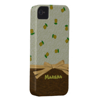 Tropical Pineapples and Bow Customizable Cover