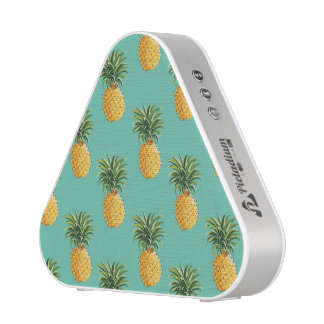 Tropical Pineapples On Teal Bluetooth Speaker