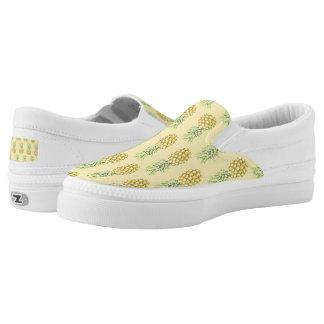 Tropical Pineapples Slip-On Sneakers