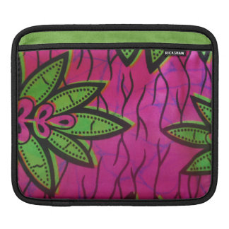 Tropical Pink and Green Rickshaw Ipad Sleeve