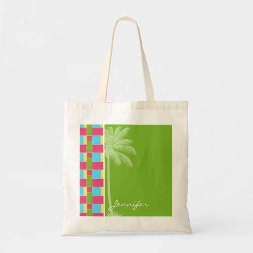 Tropical Pink, Blue, Green, & Yellow Bags