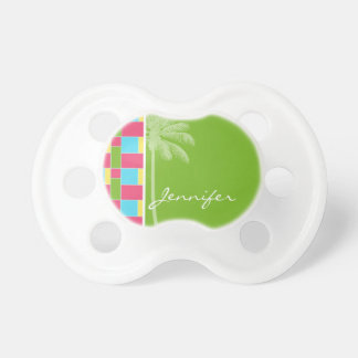 Tropical Pink Blue Green Yellow Pacifier