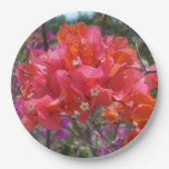 Tropical Pink Bougainvillea Paper Plate