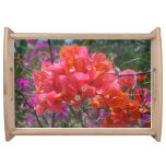 Tropical Pink Bougainvillea Serving Tray