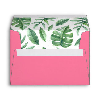Tropical Pink Envelope