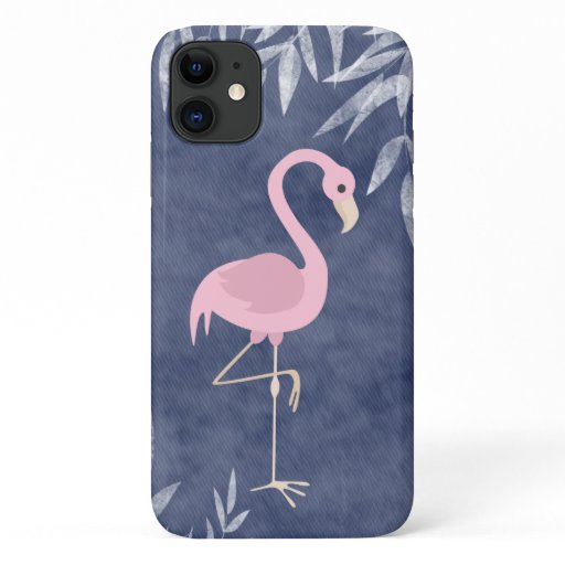 Tropical Pink Flamingo Beach iPhone 11 Case