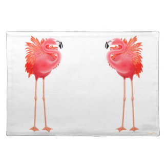 Tropical Pink Flamingo Birds Placemat