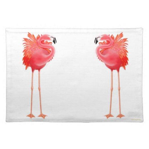 Tropical Pink Flamingo Birds Placemat Zazzle