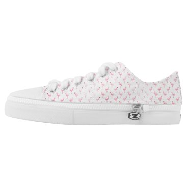 Beach Themed Tropical Pink Flamingo Low Top Shoes