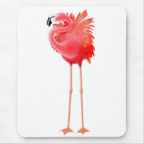 Tropical Pink Flamingo Mousepad
