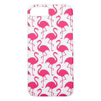 Tropical Pink Flamingo Pattern iPhone 7 Case