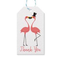 Tropical Pink Flamingo Thank You Wedding Gift Tags