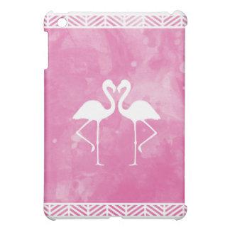 Tropical Pink Flamingo Watercolor Silhouette iPad Mini Case