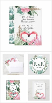 Tropical Pink Flamingo Wedding