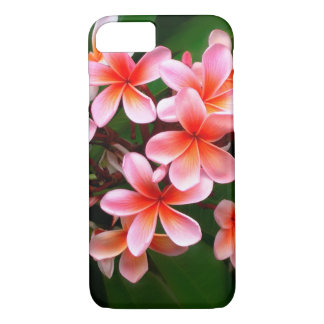 Tropical Pink Green Plumeria Flower Floral Photo iPhone 8/7 Case