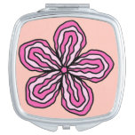 Tropical Pink Hibiscus Compact Mirror