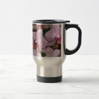 Tropical pink moth orchid flowers coffee mug