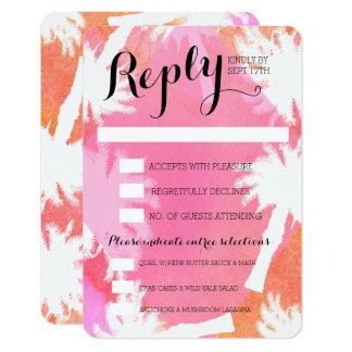 Tropical Pink Summer Wedding Response Cards