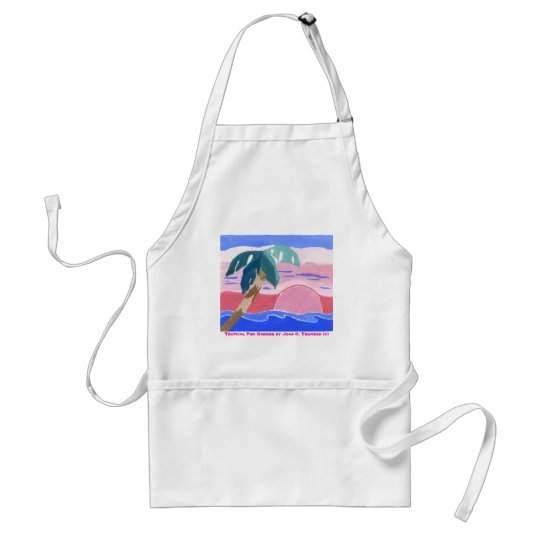 Tropical Pink Sunrise Apron
