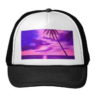 Tropical Pink Sunset Trucker Hat