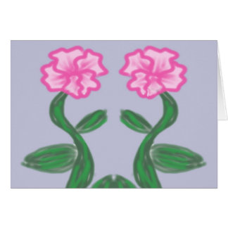 Tropical Pinks on Lavender Card