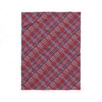 Tropical Plaid Fleece Blanket