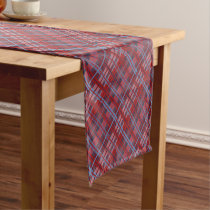 Tropical Plaid Short Table Runner