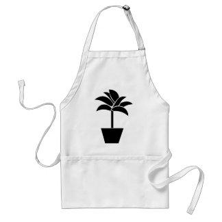 Tropical Plant In Pot Apron
