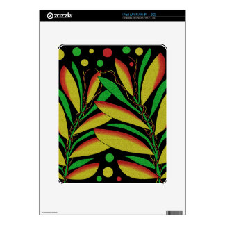 Tropical plant iPad decal