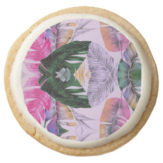 Tropical Plant Pattern Shortbread Icing Cookies