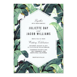 Tropical Plantation Destination Wedding Invitation