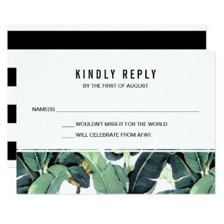 Tropical Plantation Wedding RSVP Response Cards