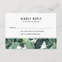 Tropical Plantation Wedding RSVP Response Cards