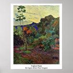 Tropical Plants By Eugene Henri Paul Gauguin Posters