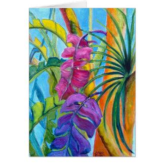 Tropical Plants Card