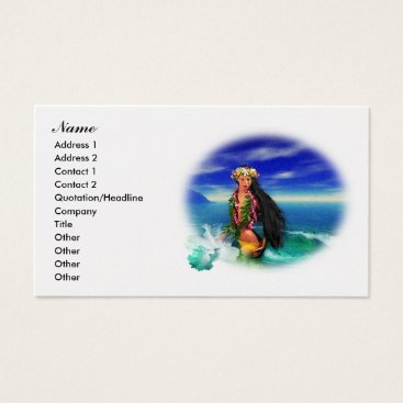 Professional Business Tropical Pleasures Business Cards 2
