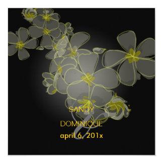 Tropical/plumerias/destination wedding invitations