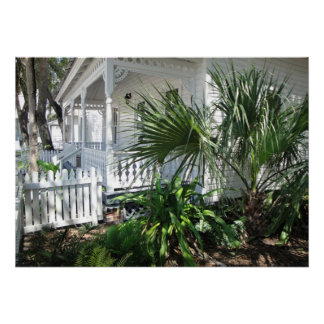 TROPICAL PORCH IN THE SOUTH POSTER