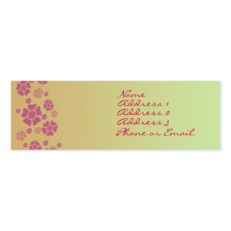 Tropical Posies Business Card