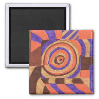 tropical postage 2 inch square magnet