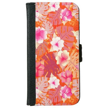 Tropical Print in Living Coral iPhone 6/6s Wallet Case
