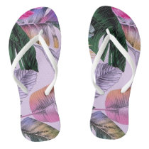 Tropical Print Pattern Women's Flip Flops
