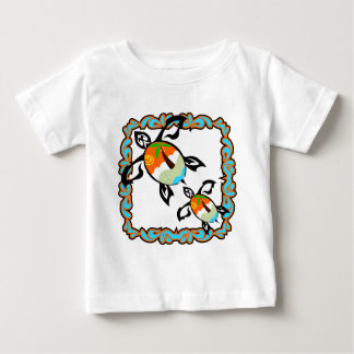 Tropical-print-turtle Baby T-Shirt