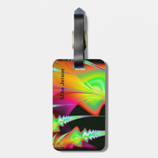 Tropical Psychedelic Luggage Tag