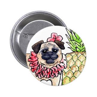 Tropical Pug Button